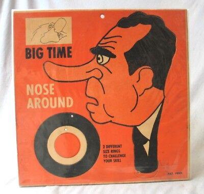 Vintage Richard Nixon --- Game Big Time Nose Around --- Original Condition - Richard Nixon Nose