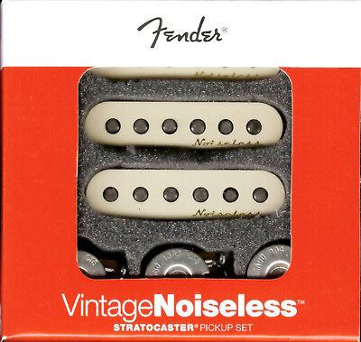 Genuine Fender Noiseless Stratocaster Pickups, Aged White, 099-2115-000 NEW