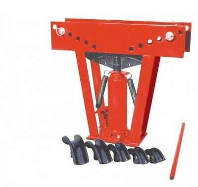 12 Ton Hydraulic Manual Pipe Bender 6 Dies Tubing Bending Aluminum Steel Tool