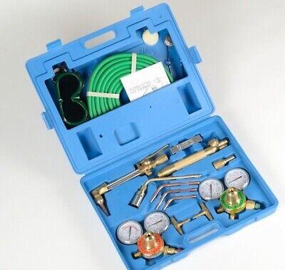 Ul Pro Brass Victor Type Gas Welding Cutting Kit Oxygen Oxy Acetylene Torch