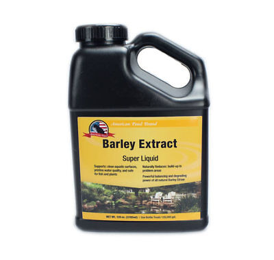Barley Straw Extract for Clear Ponds - Liquid 128 OZ Pond Water Treatment ()