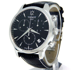 TISSOT-MEN-WATCH-CHRONOGRAPH-STEEL-43mm-SAPPHIRE-LEATHER-T0636171605700