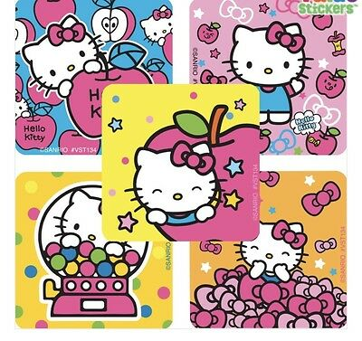 25 Hello Kitty Girly Pretty in Pink Stickers Party Favors Teacher Supply Sanrio  - Hello Kitty Party Supply