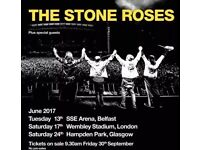 2 x Stone Roses tickets