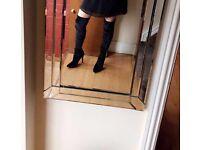 Size 4 Black velvet knee high boots