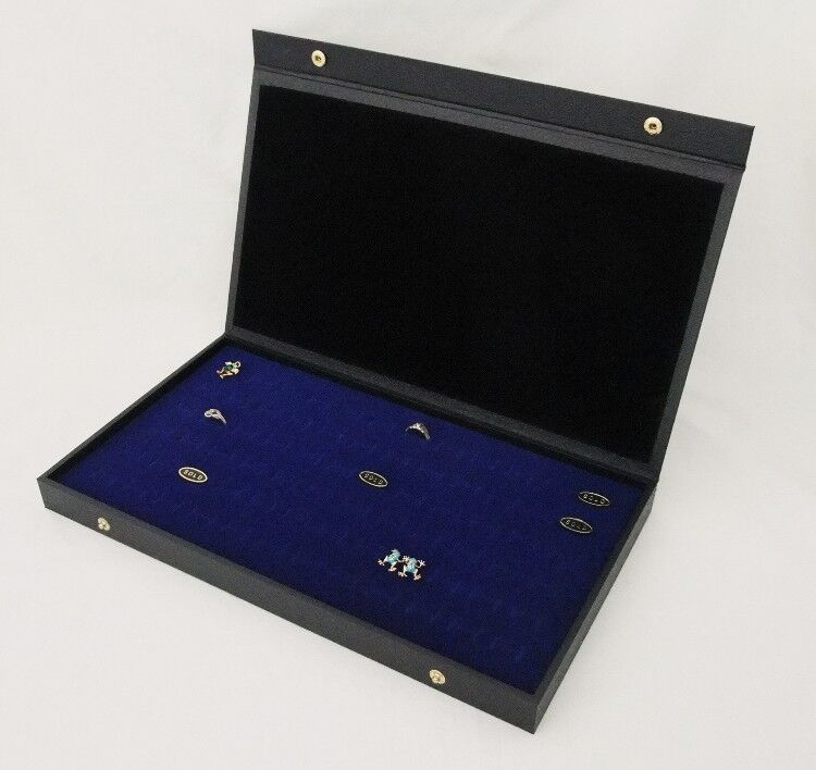 72 RING TEXTURED TOP JEWELRY DISPLAY BLUE
