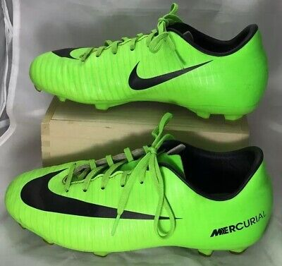 Nike Mercurial Soccer Cleats size 4 Youth 4Y Boys Girls bright Green black binC