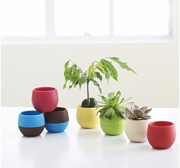 Beautiful Wholesale Mini Plastic Flower Pot Succulent Plant Flowerpot For Home Office  Deco