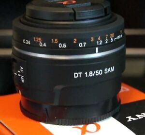 Sony DT 50 mm F1.8 Lens Alpha Camera Mount - Never used