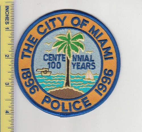 US Police Patch Miami Florida Police Department 100 Years