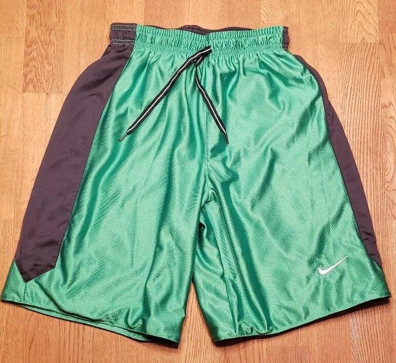Nike Boys Reversible Basketball Shorts Green & Black see description for sizing