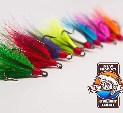 Bait Treble Hook - Dressed Treble Hooks Fishing Hook Bucktail Buck tail Fish Lure Replacement Lures