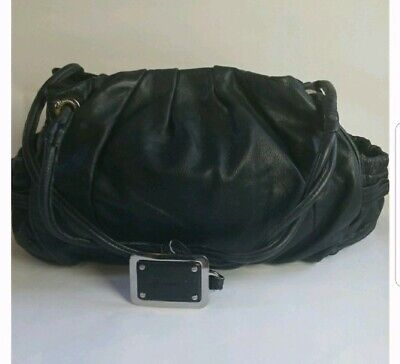 B MAKOWSKY Shoulder Bag Purse Soft Black Leather Large