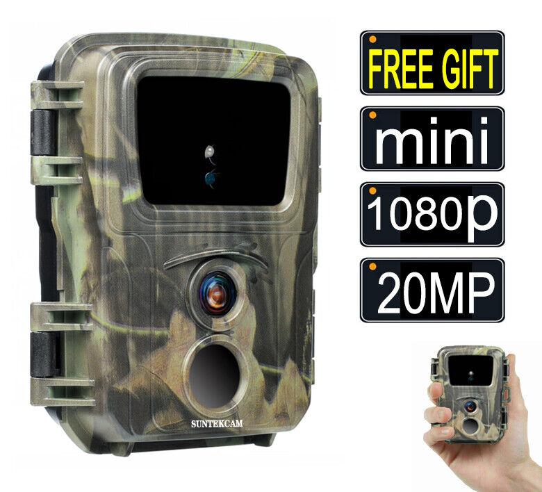 SUNTEK Mini Hunting Trail Camera Wildlife 20MP 1080P Scouting Cam Night Vision 6