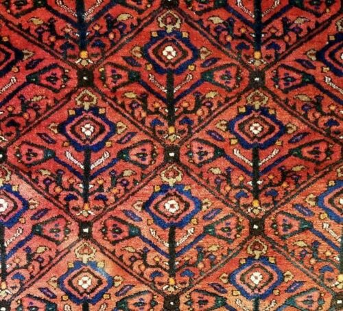 Koliaei Kurdish - 1920s Antique Tribal Rug - Oriental Carpet - 4.6 X 7.8 Ft.