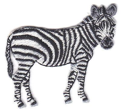 Wild Zebra (ZEBRA - JUNGLE - ZOO ANIMAL - IRON ON EMBROIDERED PATCH - WILD)