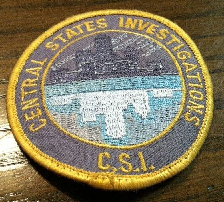 Central States Investigations {CSI} Patch