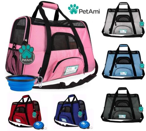 Pet Carrier Bag Soft Sided Puppy Kitten Cat Dog Tote Bag Travel Airline Approved