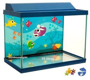 Kit acuario peque o de cristal filtro luz anticloro agua for Acuarios pequenos