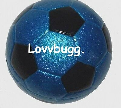 "Lovvbugg Blue Soccer Ball Mini or 18"" American Girl Doll Lovvbugg Accessory"