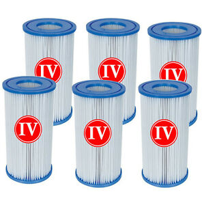 6 x bestway filter cartridge iv 58095 for 2500gph swimming - Swimming pool cartridge filters pump ...