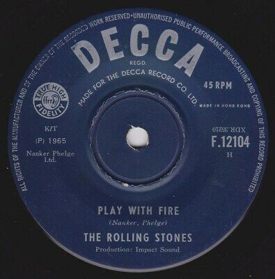 ROLLING STONES 3 45 Street fighting man Singapore The last time Hong Kong PROMO