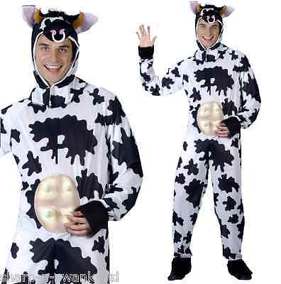 Herren Schwarz und Weiß Kuh Nutztier Stag Lustig - Kostüm Schwarze Und Weiße Kleid