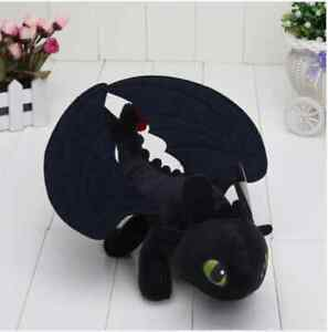 How to Train Your Dragon Toothless Night Fury Plush Soft Toy Doll Teddy 9