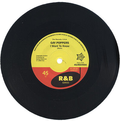 """GAY POPPERS  """"I WANT TO KNOW""""    R&B CLASSIC   LISTEN!"""