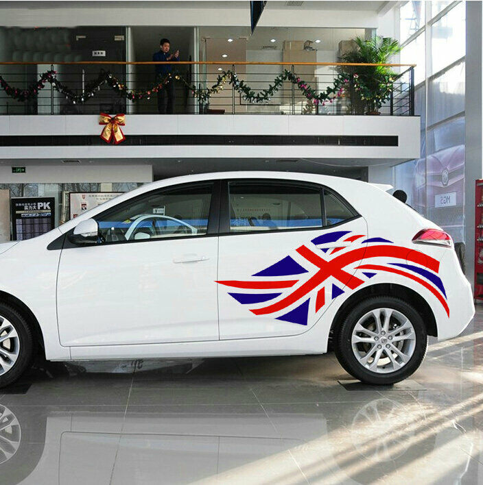 2 pc vinyl union jack car sticker british flag auto decal emblem for bmw mini mg