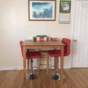 Bar Height Table and 2 Chairs / Stools