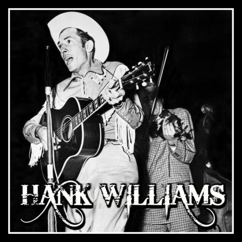 """4"""" Hank Williams Honky Tonk Blues vinyl sticker. Classic country music decal."""