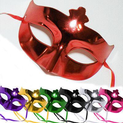 Einfache Halbmaske * SHINE * Farbwahl - Harlekin KARNEVAL Mardi Gras Maske ()