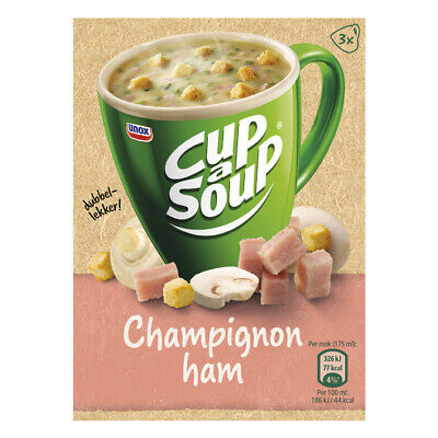 Unox Cup-a-Soup Champignon Ham Mushroom Instant Soup Cup 16G - Ham Mushroom Soup