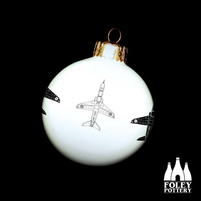 APC%3A+Hawk%2C+RAF%2C+Aeroplane+inspired+Fine+China+Christmas+Bauble+By+Foley+Pottery+
