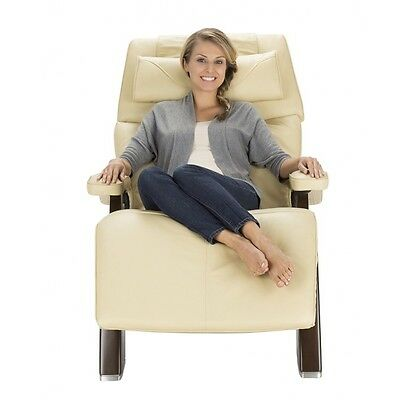 New Ivory Premium Leather PC-600 Chestnut Omni-Motion Human Touch Perfect Chair Chestnut Leather Recliner