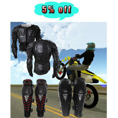 - Motorcycle Full Body Armor Jacket Spine Chest Protection Gear Motrocross Bike RM