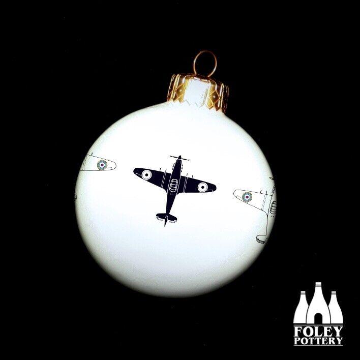 APC%3A+Hurricane%2C+Aeroplane%2C+Fine+Bone+China+Christmas+Bauble+By+Foley+Pottery+