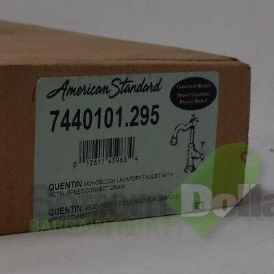 - American Standard Quentin Monoblock Single-Handle Bathroom Faucet Brushed Nickel