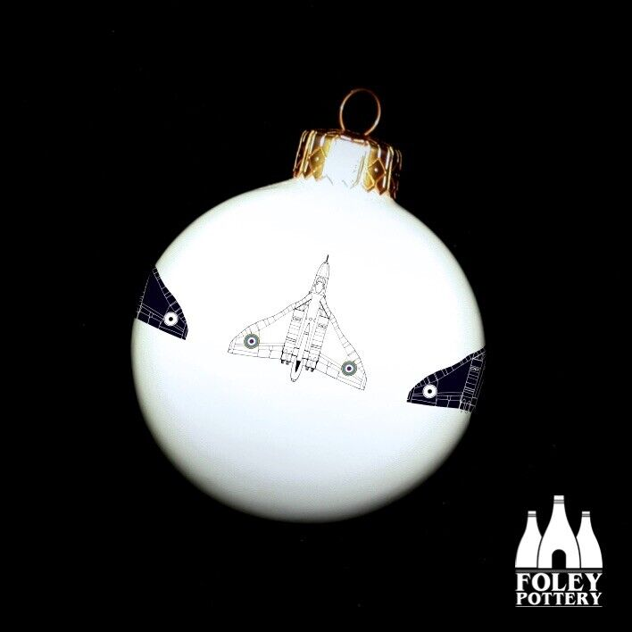 APC%3A+Vulcan%2C+Aeroplane%2C++inspired+Fine+China+Christmas+Bauble+By+Foley+Pottery+