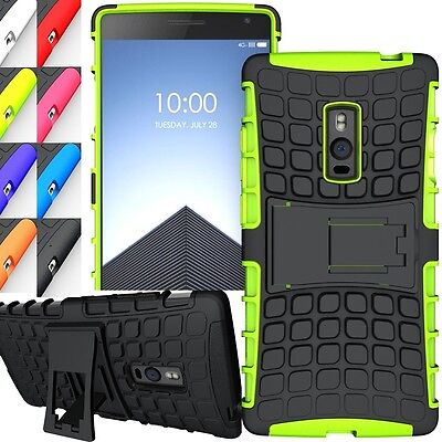 Shockproof Duty Rugged Dual Hybrid Armor OnePlus 2 Two Kick Stand Case