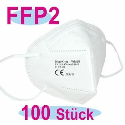100 x Miaoxing FFP2 Atemschutzmasken CE 0370 - auch für Kinder geeignet
