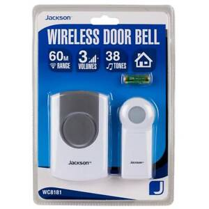 NEW & SEALED: Jackson Wireless Door Bell with 60M Range 38 Tones Abbotsford Yarra Area Preview