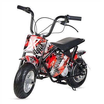 Mini moto electrica motocross cross bateria 300w 36v infantil bluetooth 3colores