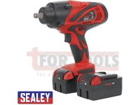 """SEALEY TOOLS CP3005 CORDLESS IMPACT WRENCH 650NM TORQUE 18V 4AH LITHIUM-ION 1/2""""SQ DRIVE"""