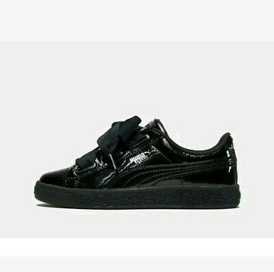 Puma Basket Heart Patent Trainers Junior Size: 12