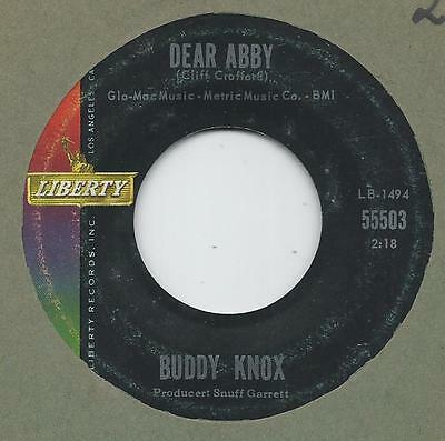 Teen Liberty 45   Buddy Knox    Dear Abby    Vg