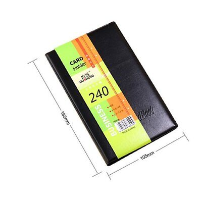 Leather 240 Cards Business Name Id Credit Card Holder Book Case Keeper Organizer
