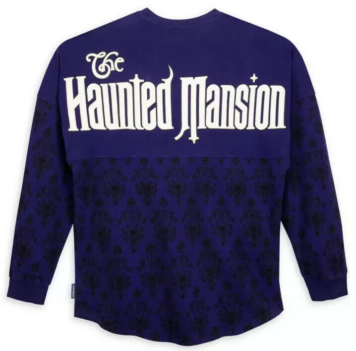 Disney Parks Spirit Jersey The Haunted Mansion Ghost Host Purple Medium (M)
