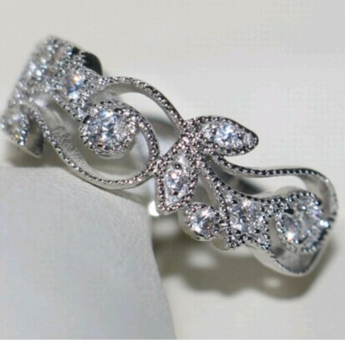Silver Ring- 2Ct CZ Women s Ring- Size 7-Stamped 925 - $4.98